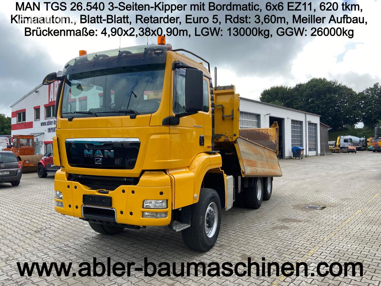 MAN TGS 26.540 6x6 3-Seiten-Kipper mit Bordmatic dump truck