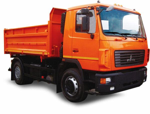 new MAZ 555026 dump truck