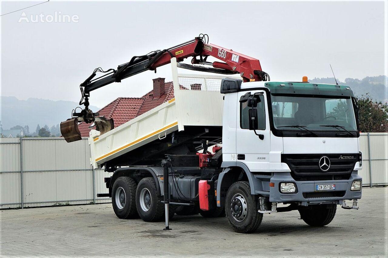 MERCEDES-BENZ Actros 3336 Kipper 4,60m+Kran Topzustand! dump truck