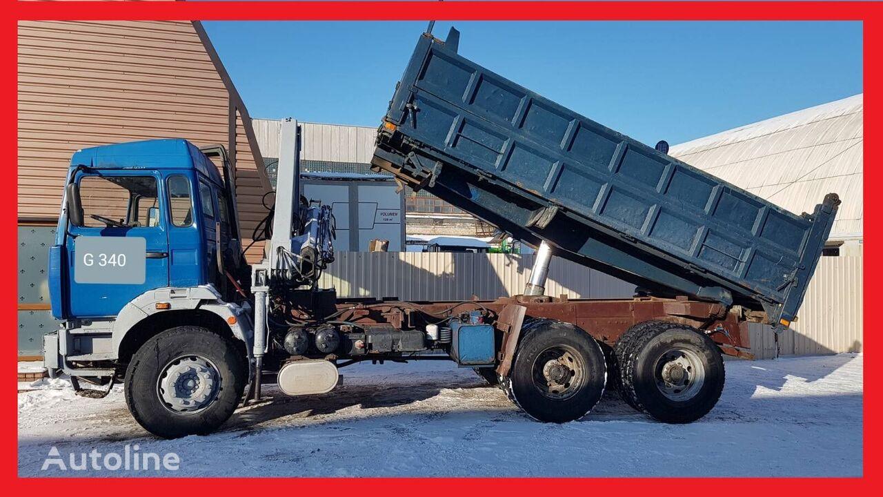 RENAULT G 340  Tipper + Kran PM 10022 dump truck