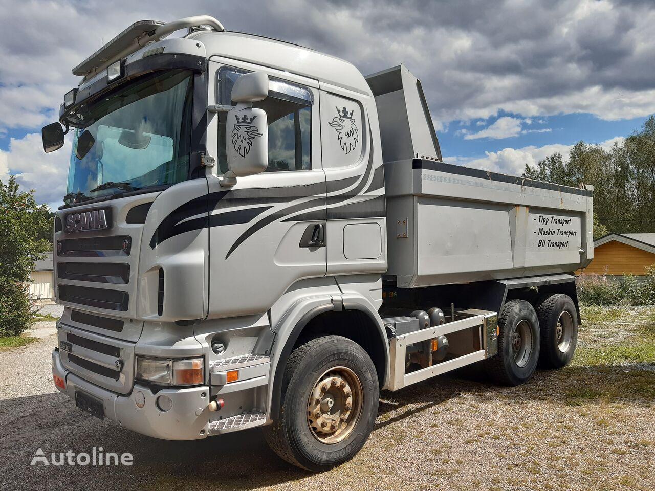 SCANIA R500 6x4, V8, full steel,retarder,big axles dump truck