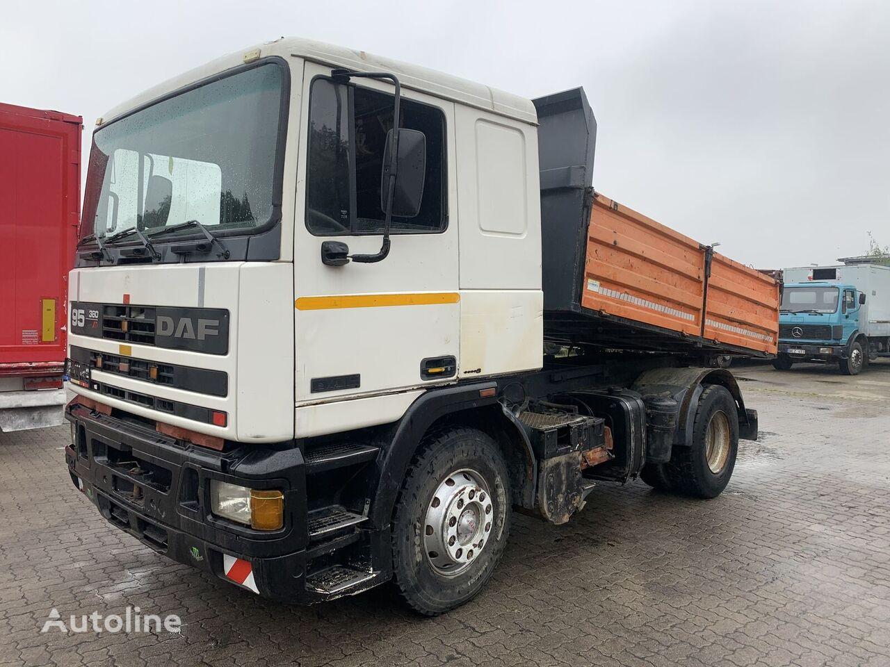 DAF 95 ATI 360 4x2 tipper full spring manual dump truck