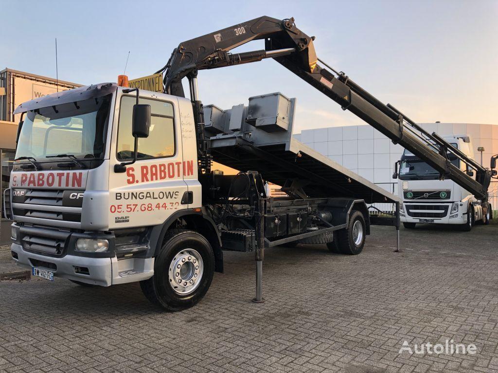 DAF CF75 310 + HIAB 300-5 + REMOTE CONTROL + KIPPER + TUV/APK dump truck
