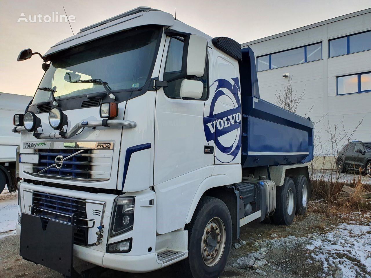 FH16 600 6x4,Big axles,full steel,retarder,euro5 dump truck
