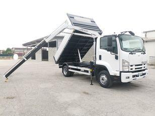 ISUZU FRR90 RIBALTABILE TRILATERALE + GRU  dump truck