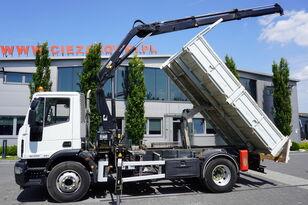 IVECO Eurocargo 160E25 , EEV , 4X2 , tipper + Crane , Remote Control  dump truck