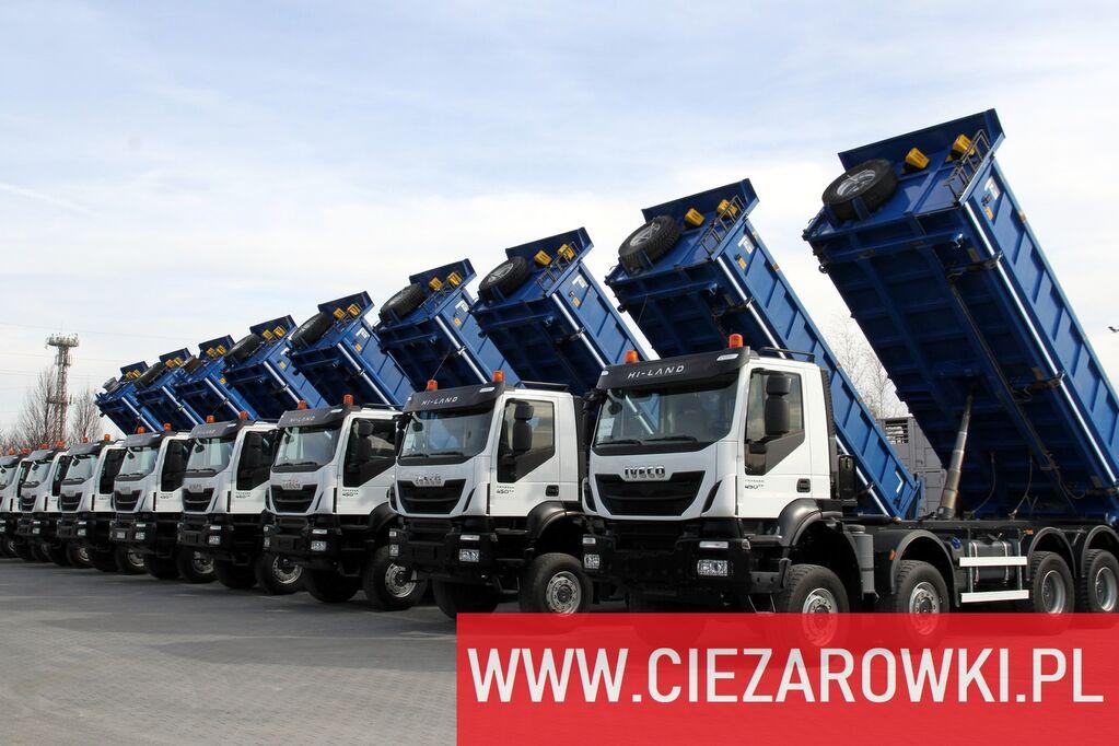 IVECO Trakker 450 , E6 , 8x8 , 3-side tipper , retarder 10 UNITS FOR S dump truck