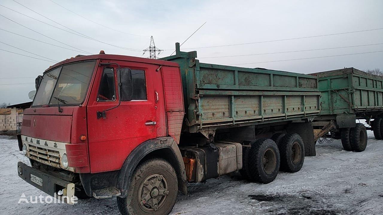 KAMAZ dump truck + dump trailer