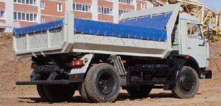 new KAMAZ 43255 dump truck