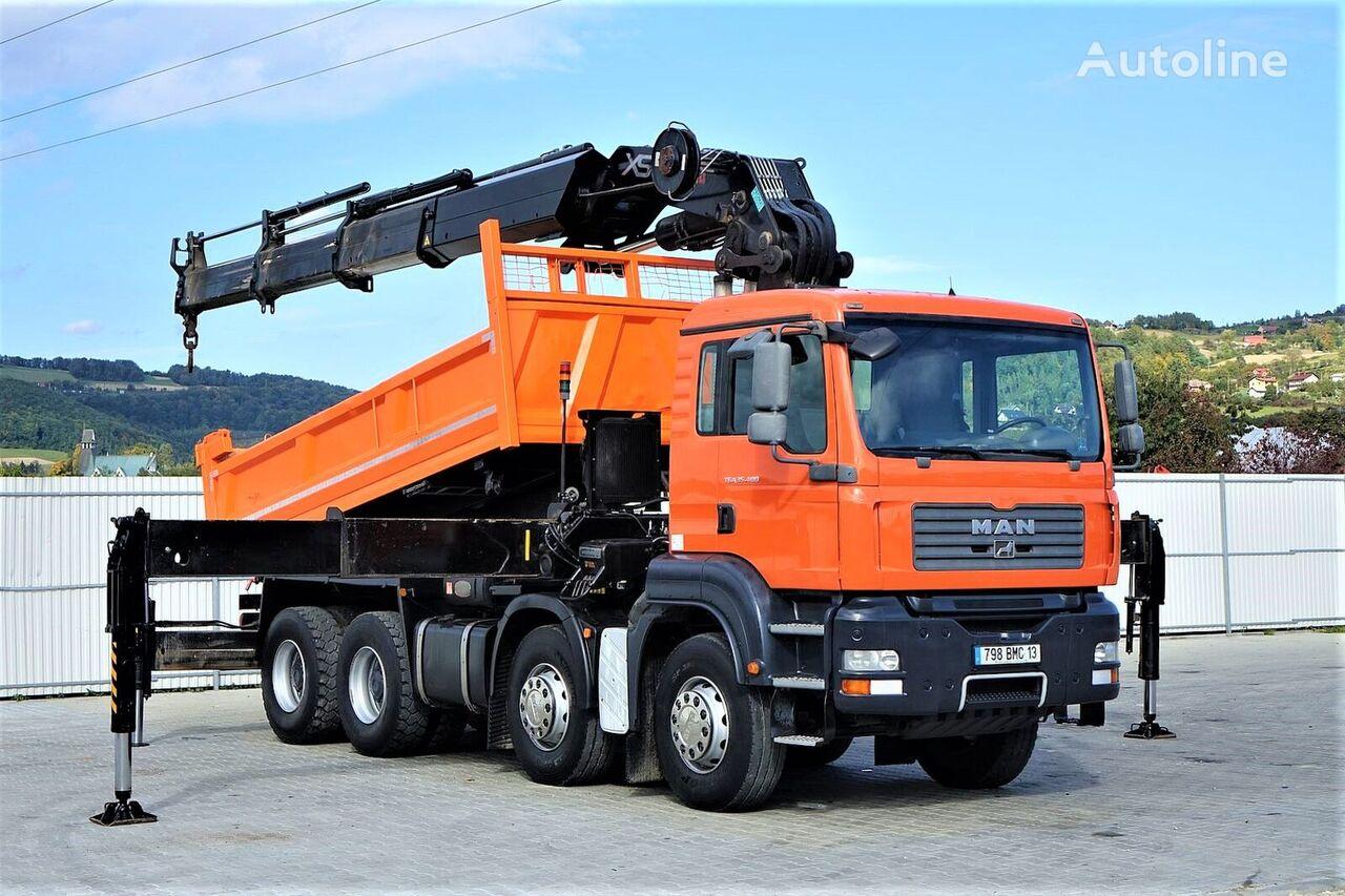 MAN TGA 35.400 Kipper 5,00 m + KRAN HIAB 600 * 8x4! dump truck