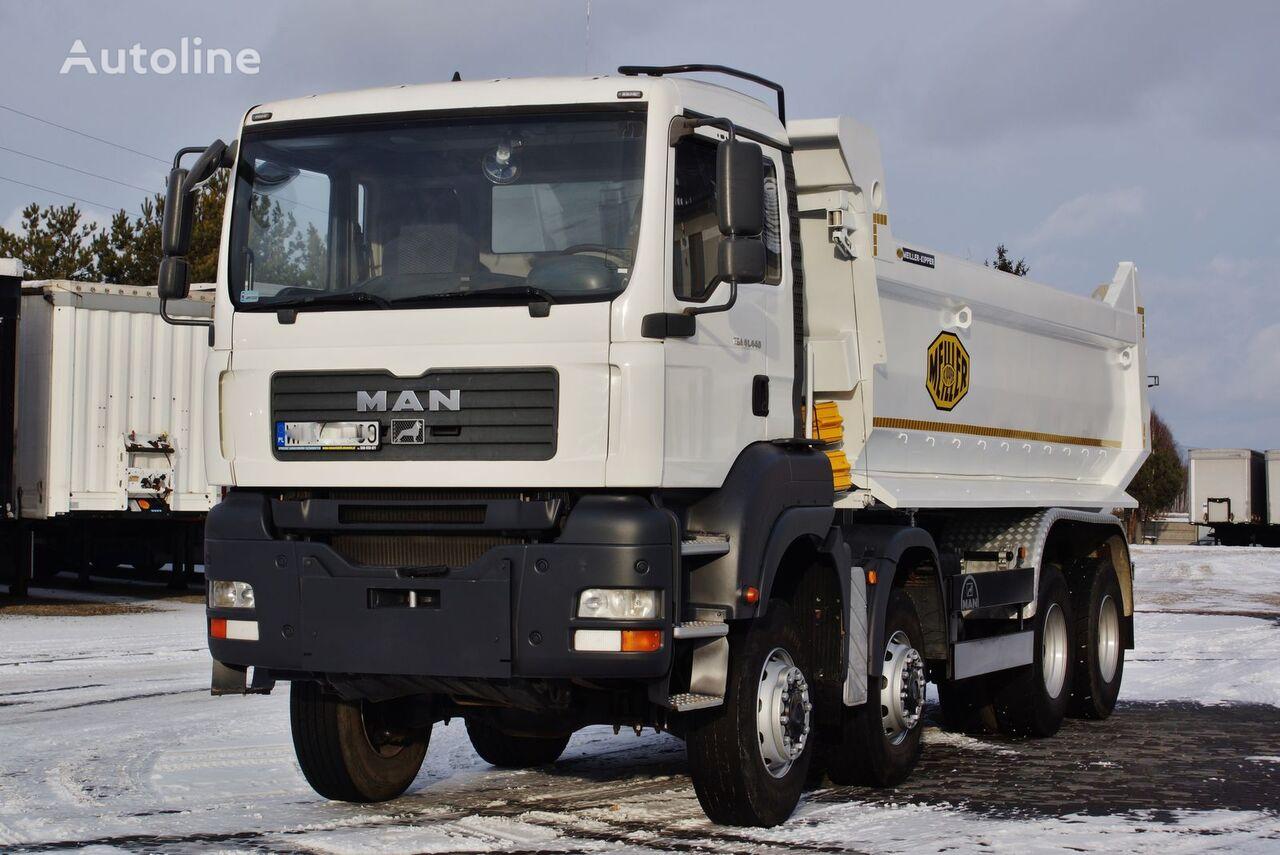 MAN TGA 41.440 8X6 MEILLER KIPPER S1 MANUAL 2007 dump truck