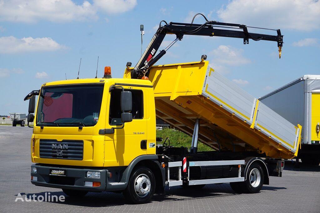 MAN TGL / 10.240  / WYWROTKA + HDS / PRZEB. TYLKO 28 000 KM / JAK NO dump truck