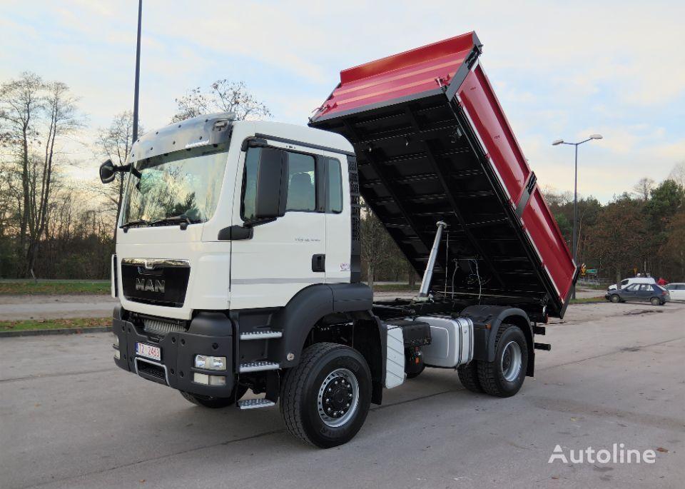 MAN TGS 18.440 4x4, NA RESORACH, MANUAL, WYWROTKA 3-STRONNA dump truck