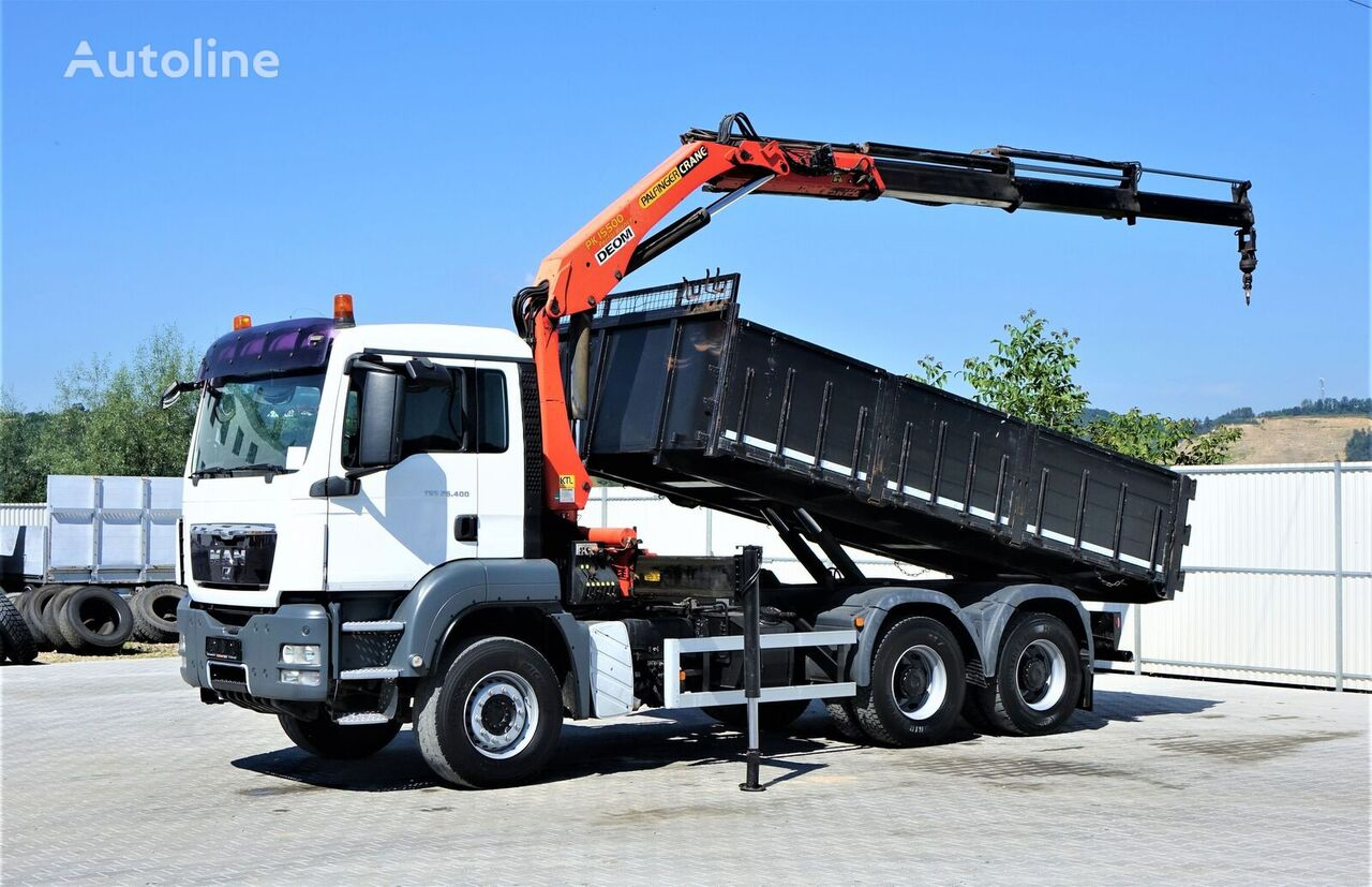 MAN TGS 26.400 Kipper 5.20m + Kran/FUNK *6x4  dump truck