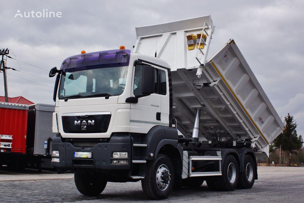 MAN TGS 33.400 6x6 BORDMATIC KH KIPPER / NEW TYRES / PERFECT / 03.20 dump truck
