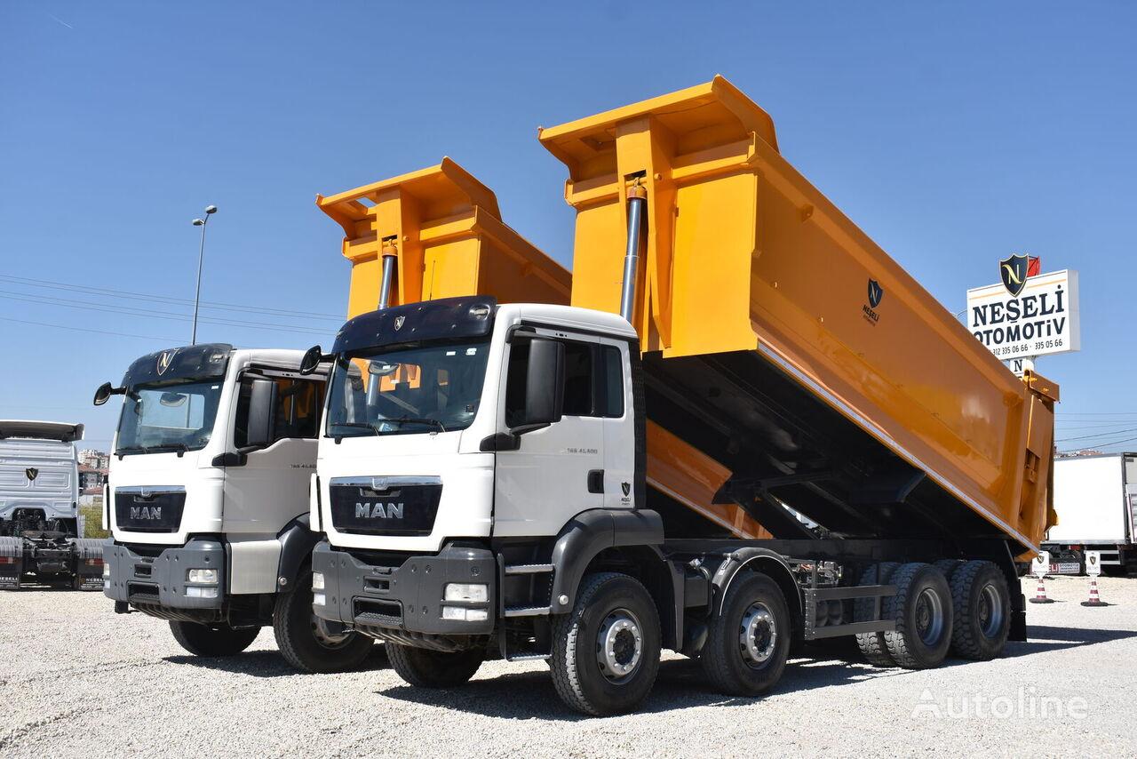 MAN TGS 41.400 2 PCS A/C 8X4 AUTO HARDOX TIPPER dump truck