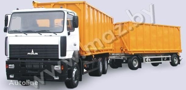 new MAZ 6501A5 avtopoezd dump truck