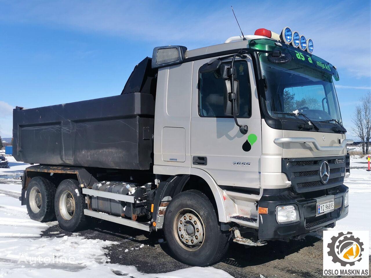 MERCEDES-BENZ ACTROS 2655, 6x4, V8, km. 274000  dump truck