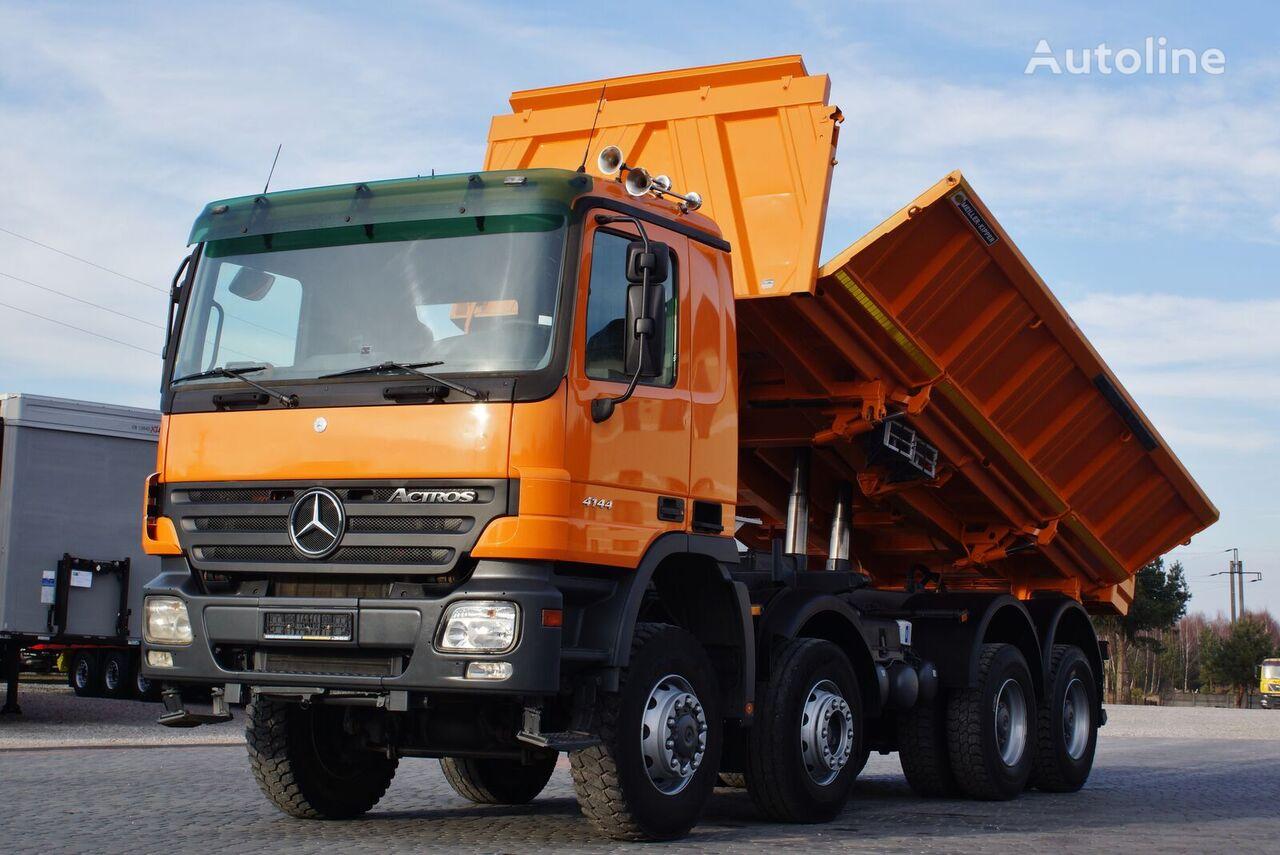 MERCEDES-BENZ ACTROS 4144 8X6 MEILLER KIPPER BORDMATIC * GERMAN TRUCK *  dump truck