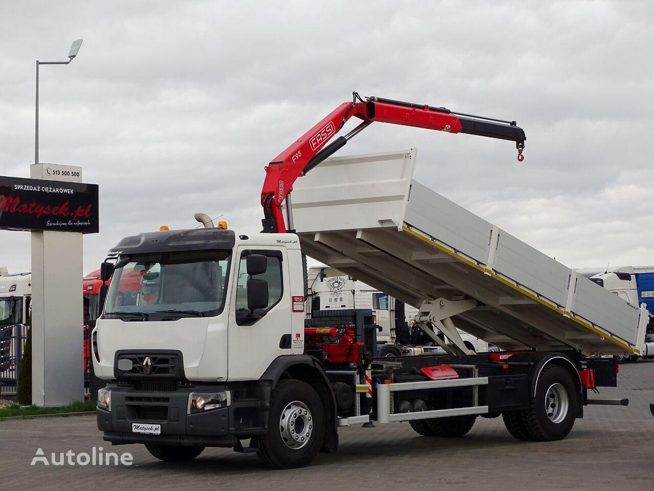 RENAULT C 280 / 4X2 / TIPPER - + CRANE FASSI / 14 000 KM !!! / LIKE NEW  dump truck