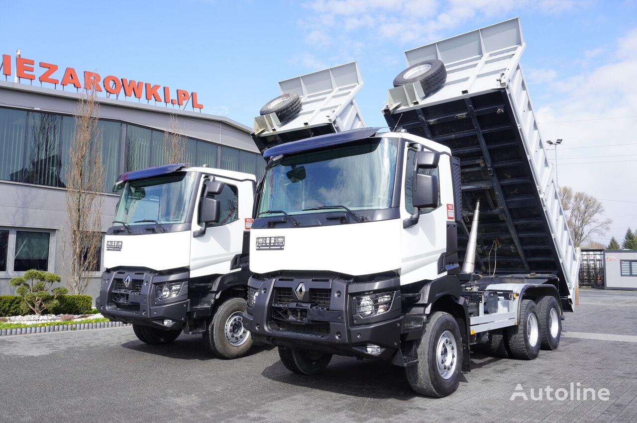 RENAULT Kerax 480 , E6 , 6x4 , 80.000km , 3 way tipper , retarder , day  dump truck