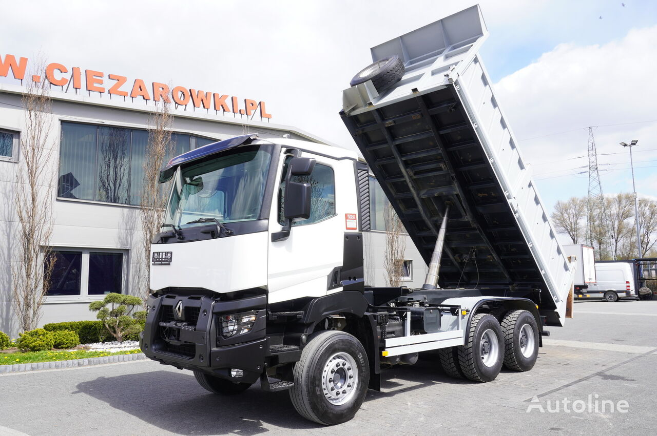RENAULT Kerax 480 , E6 , 6x4 , 90.000km , 3 way tipper , retarder , day  dump truck