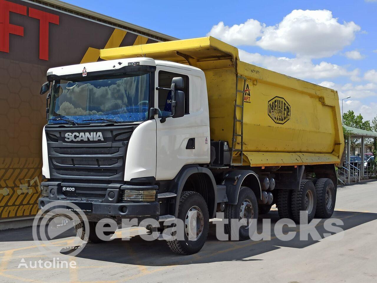 SCANIA 2014 G 400 E5 AC 8X4 HARDOX TIPPER dump truck