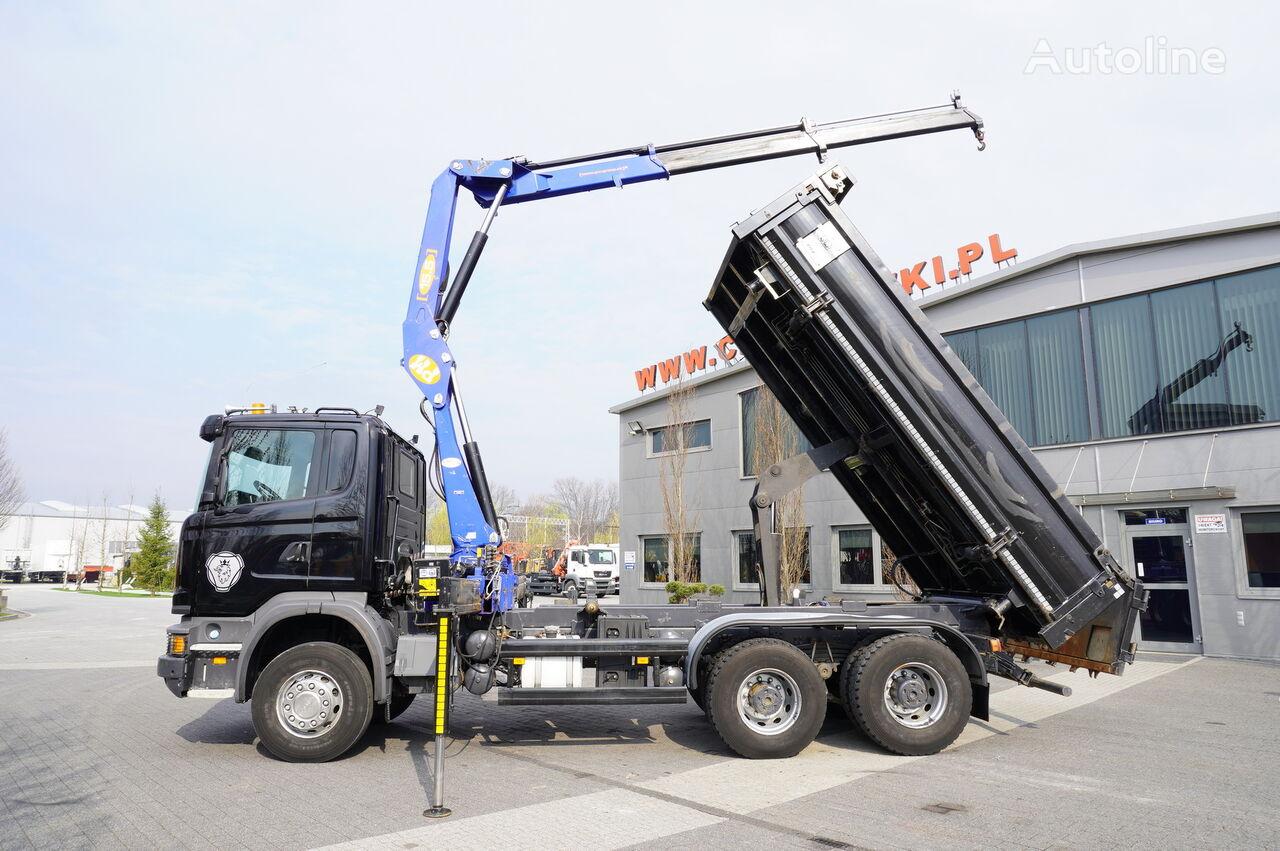 SCANIA G360 , E5 , 6x4 , 90.000km , 2way tipper , crane PM , bordmatic dump truck