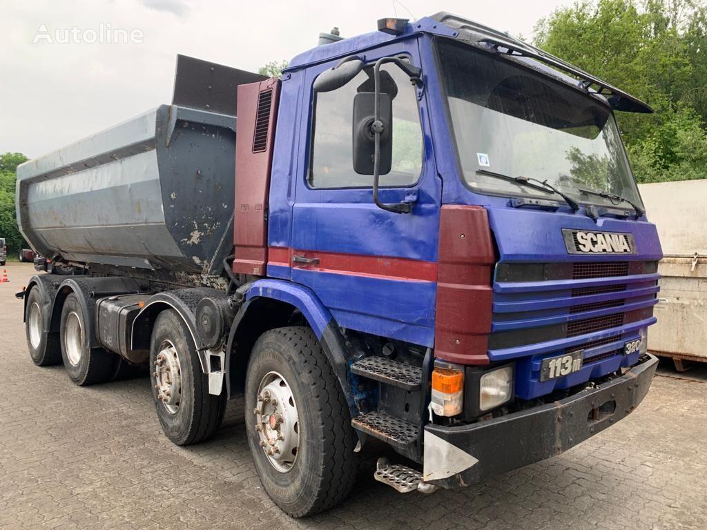 SCANIA P113 320 hp 8x4 full spring manual dump truck
