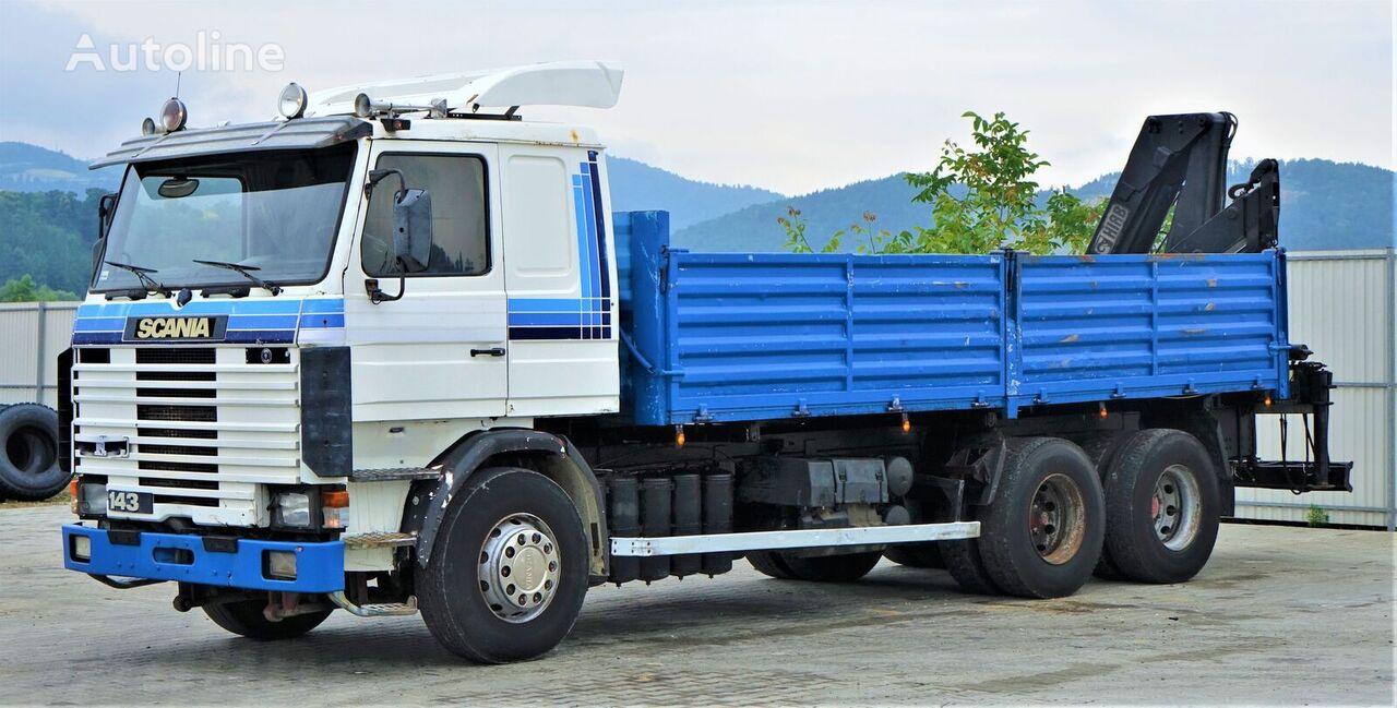 SCANIA R 143 Kipper 6,30m +Kran*6x4!!! dump truck