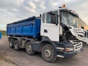 damaged SCANIA R380 8X4  dump truck