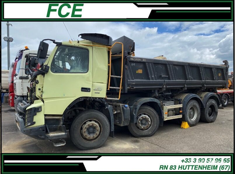 damaged VOLVO FMX 460/MEILLER 25 *ACCIDENTE*DAMAGED*UNFALL* dump truck