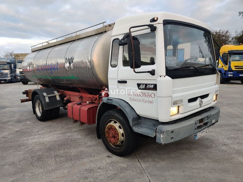 RENAULT M 250 - 16 Inox Foodstuff / Alimentaire Isotherm Tanker 11000 L feed truck