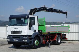 IVECO Stralis 310 Kipper 5,30m + Kran*4x2*Topzustand! flatbed truck