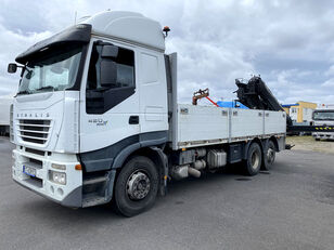 IVECO Stralis 420 6x2 - HIAB XS 166 D-4 PRO! flatbed truck