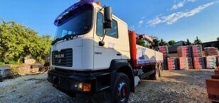 MAN 27.364 6x4 fassi F150A flatbed truck
