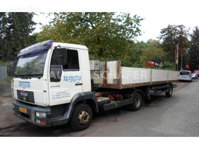 MAN L 8.220 Vontató + Clemes platós félpót flatbed truck