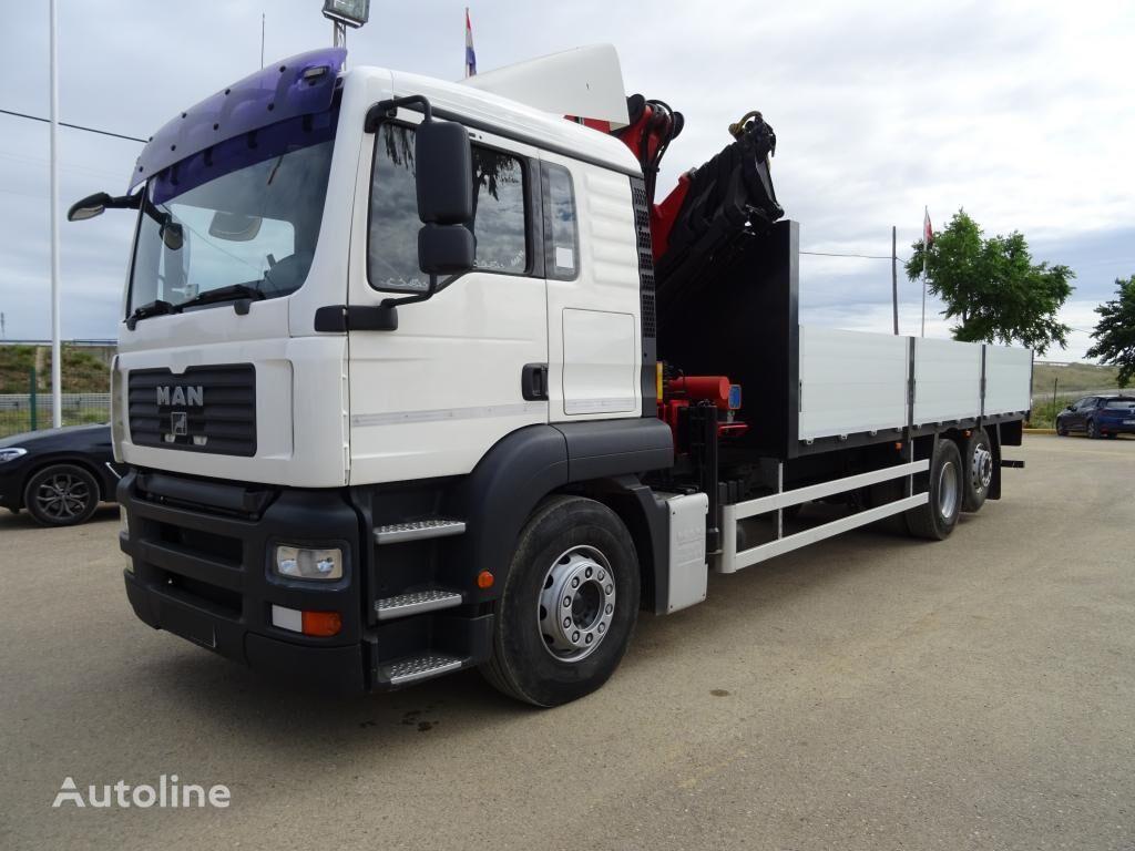 MAN TGA 26 320 flatbed truck
