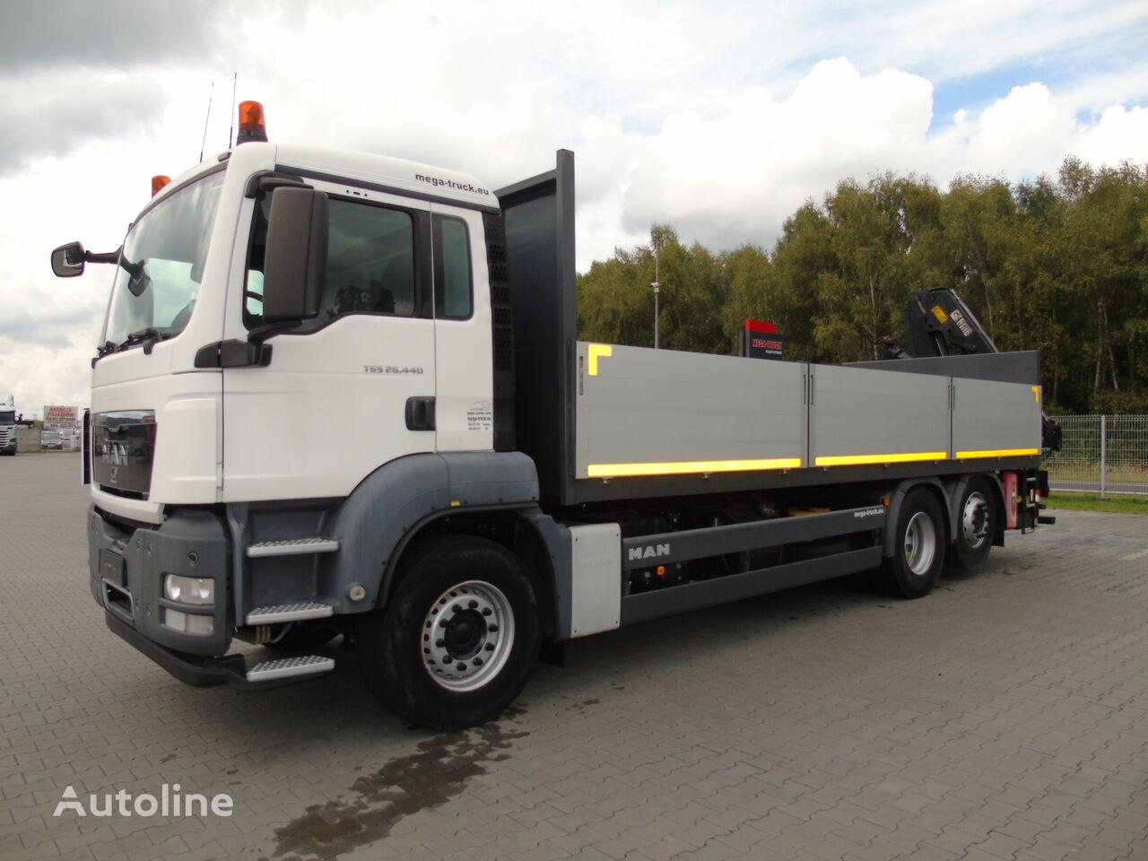 MAN TGS 26.440 6X2 HIAB XS 122 HIDUO-RADIOWY flatbed truck