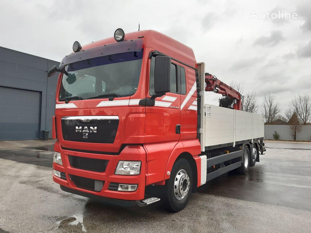 MAN TGX 26.440 6x2 EU5 ATLAS DARU FORDULÓ BOGI flatbed truck