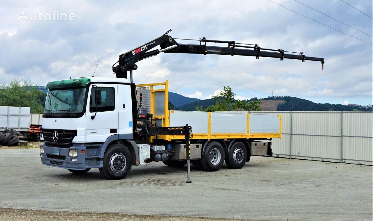 MERCEDES-BENZ Actros 2541 Pritsche 6,20m+ Kran/FUNK*6x2*  flatbed truck