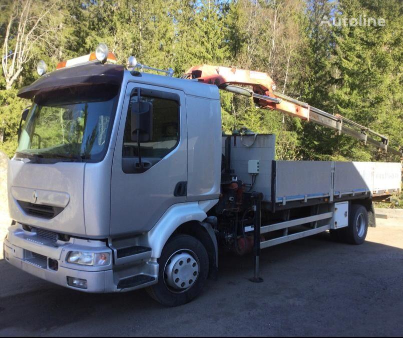 RENAULT Midlum HMF Sterowanie radiowe SPROWADZONY flatbed truck