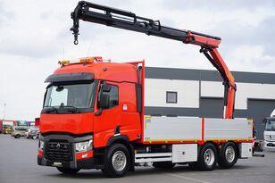 RENAULT T 460 /  E 6 / SKRZYNIOWY + HDS / PALFINGER PK1 18002 / WYSIĘG 1 flatbed truck
