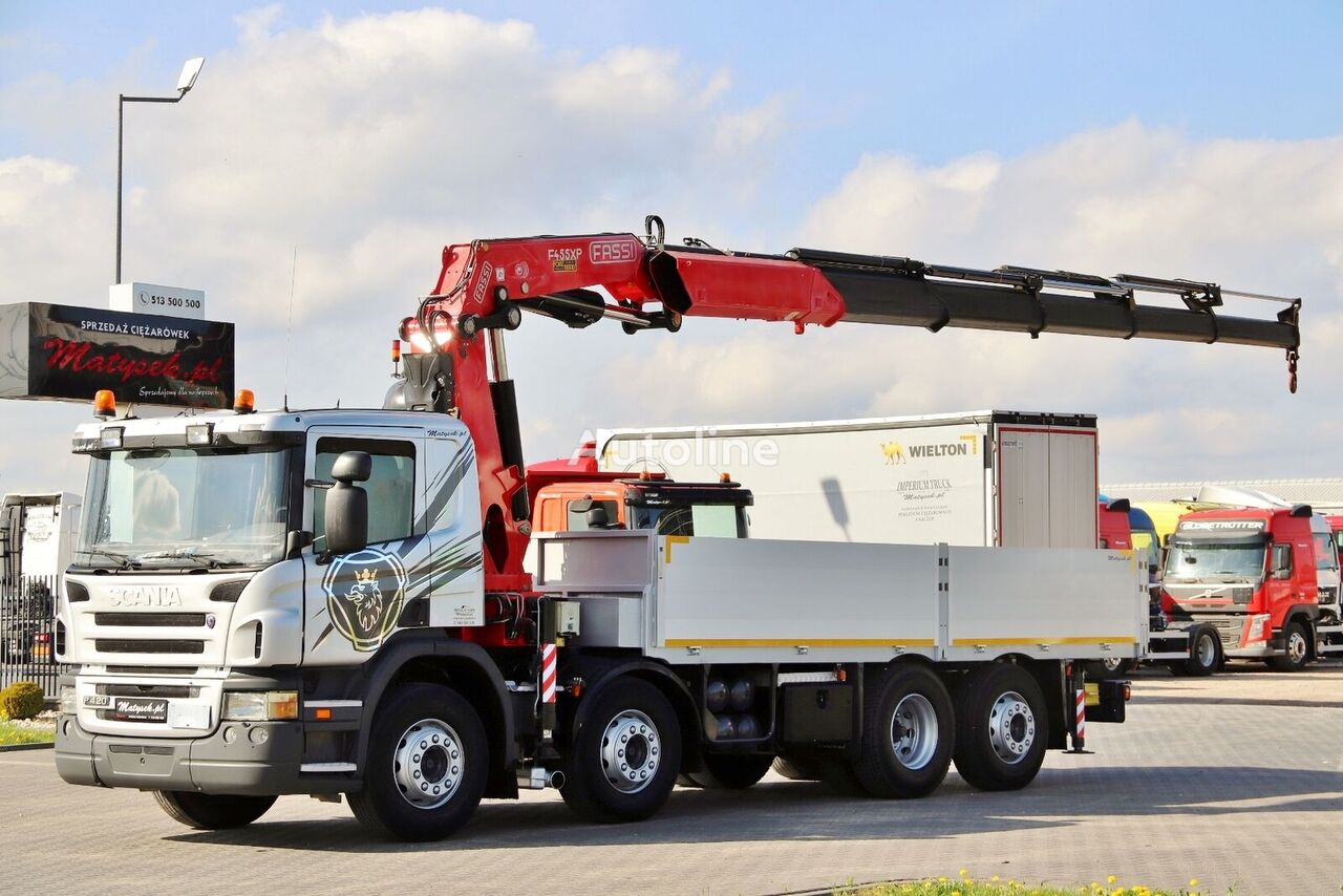SCANIA P 420 flatbed truck