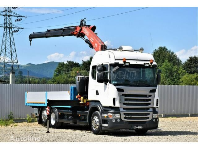 SCANIA R 400 flatbed truck