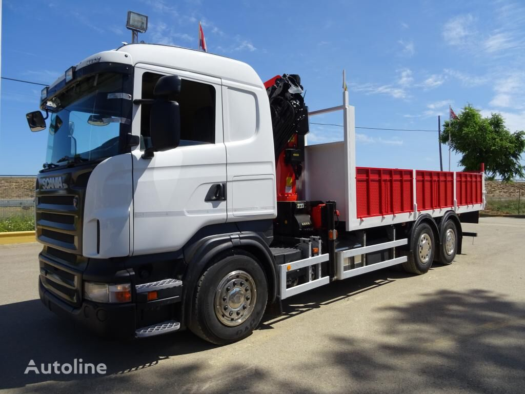SCANIA R 420 flatbed truck