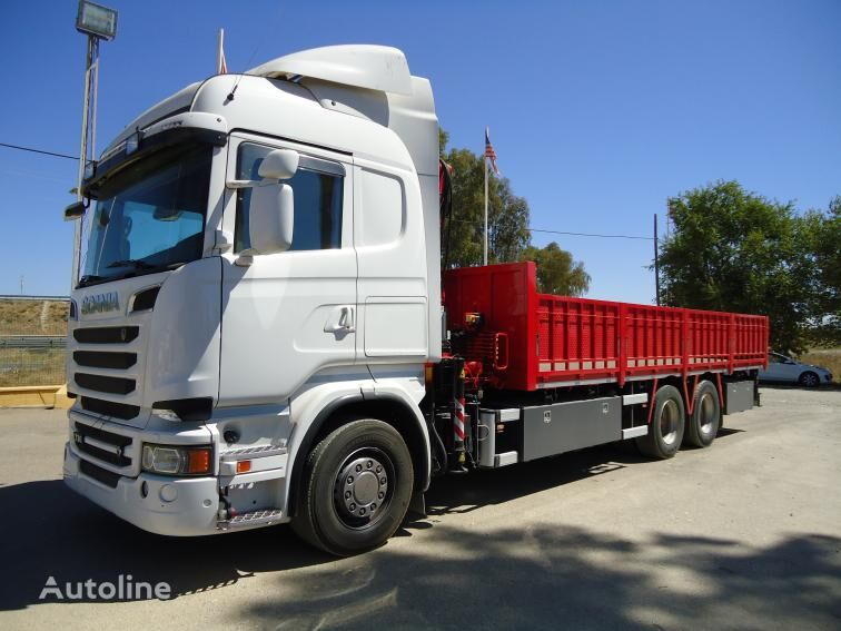 SCANIA R 730 flatbed truck