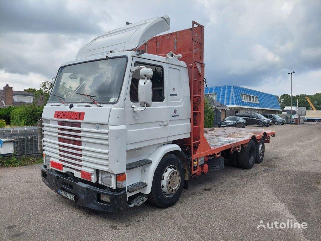 SCANIA R143-470 V8 MANUAL flatbed truck