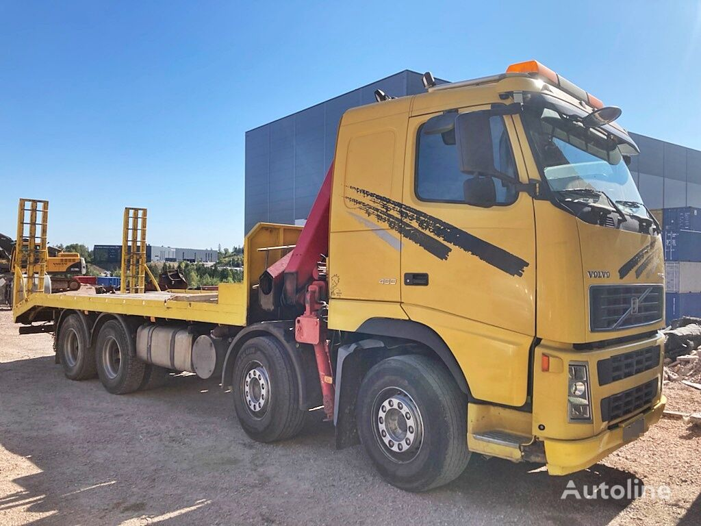 VOLVO FH 12 460 8x4*Kran*Fassi 23TM*Euro 3 flatbed truck
