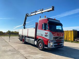 VOLVO FH12 420HP With Crane HIAB 200 C-3 flatbed truck